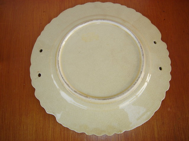 Vintage Majolica Cherries Pattern Plate Beautiful Condition