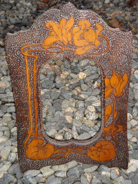 POKER ART Art Nouveau Picture Frame SOLID BIRDS EYE MAPLE construction