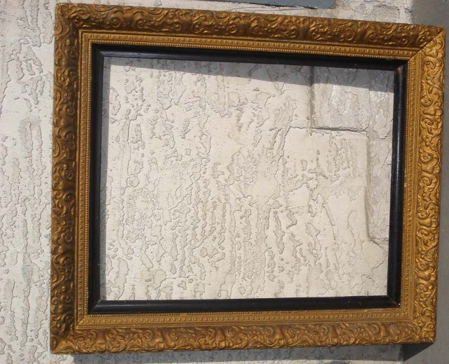 GOLD Antique Wood PICTURE FRAME Large