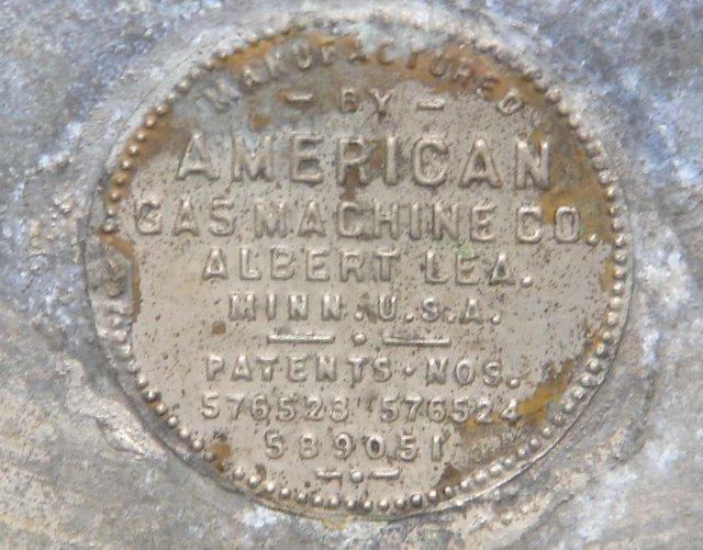 Antique AMERICAN GAS Machine Co. Large Gas Lantern