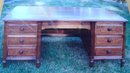 Spectacular Vintage Desk Absolutely Like New Condition Sheraton Design Many Features ALL WOOD!!! Specially Made for Oil Company Executive