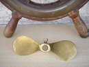Nautical  Antique SOLID BRASS PROPELLER 1930's ~~~ Size 7 Inches Long