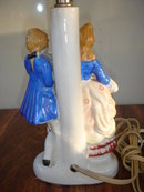 Estate Wonderful  PAIR Vintage Porcelain Figural Electric Bedside  LAMPS  Base with Shade or with out Your Choice. Excellent Condition. Makes a Great Gift.