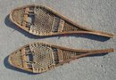 ANTIQUE ROADSHOW ARTIFACTS_Old CANADA Country Primitive _Makes a Great GIFT for the COTTAGE ~ From Estate Antiquities  ~ SMALL ~ Child's SNOWSHOES  1841 Upper Canada Huron Indian Tribe Snow Shoes 33 Inches Long x 9.5 Inches