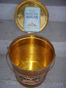 Kitchen Items  British Columbia Historical Artifact LARGE  Kelly Confections TIN w/lid / wood handle/  Original Rare Find