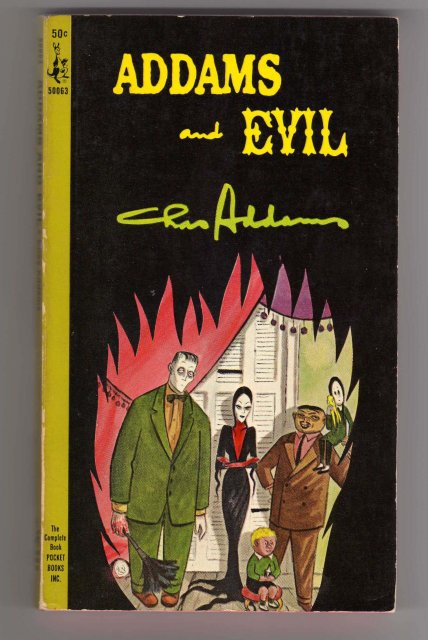 Ephemera PAPERBACK Pocket Book ~ ADDAMS and EVIL by Chas Addams Published by Pocket Books Inc USA ~ Excellent Condition