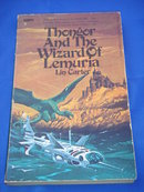 Books Pocket Book / Paper Back Vintage 1970's THONGOR And The Wizard of Lemuria by Lin Carter  ~ Fantasy ~ Map by Lin Carter Included