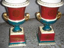 ANTIQUE Roadshow Artifacts  ROYAL VIENNA  Porcelain URNS  the Pair in Beautiful