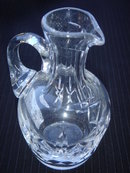 Signed STUART ~ Etched in Crystal Glass ~ England Crystal Glass Miniature Jug  in Excellent Condition
