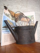 Antiquities Old CANADA COUNTRY ~ PRIMITIVE Genuine WHALE OIL LAMP  Large Size in Beautiful Condition for Antique