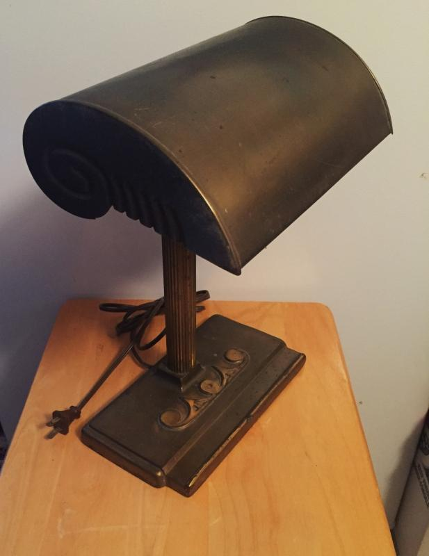 Architectural ART DECO Office Desk Lamp _ Working _
