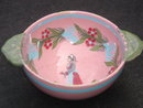ANTIQUE Circa 1800's QUIMPER WARE Bowl ~ Old CANADA Country Antique Artifact~ Made before Factory Destroyed. RARE FIND in PINK Color