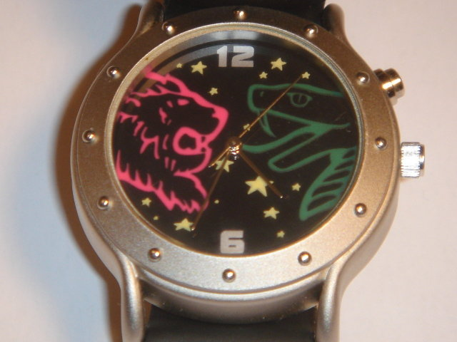 Collectible GENUINE HARRY POTTER  WRIST WATCH ~ 2001 Warner Bros ~ LION + SNAKE + Stars