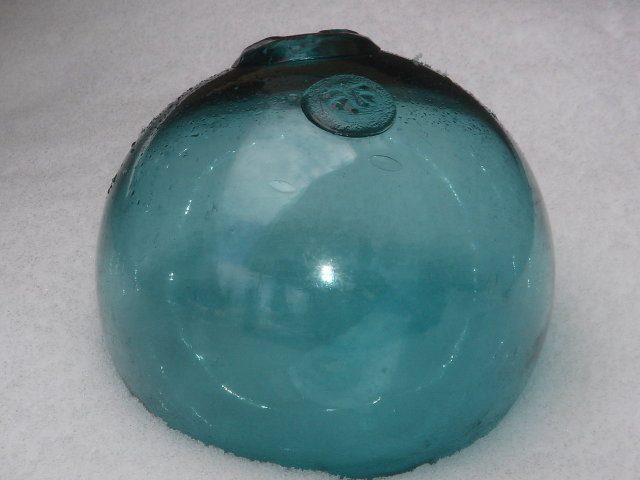Collectible Nautical ~ Wow, the Beauty of Genuine Original JAPANESE Glass Fishing Float. Note the LARGE SIZE 30