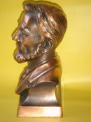 COLLECTOR UnUsual Model of COIN BANK ~ Abraham Lincoln Coin Bank ~ Metal ~ Copper / Bronzed Finish~ Lincoln First Federal Savings & Loan Assn  Spokane -Ephrata- Seattle