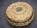 Circa 1925 ~ small Penobscot NATIVE AMERICAN Sweet Grass Basket ~ Subarea: Maine,U.S.A., + New Brunswick,+ Quebec Canada