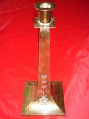For Special Occasion Gift__Arts n Crafts CIRCA 1905  BENEDICT KARNAK  U.S.A. ~ Solid Brass Candlesticks ( PAIR ) ~ 13.25 Inches Tall ~ Candle Stick with Image of  Winged Egyptian Goddess ISIS