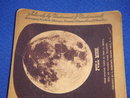 Circa 1880's Stereoview Card ~ FULL MOON from negative taken by Prof. H. Draper with his silvered glass telescope