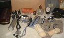 Vintage DOCTOR'S Medical Equipment ~ Approx  43 Pcs ~ includes Vintage Welch Allyn  Otoscope ; Acoma Sphygmomanometer ; Ingram & Bell Germany Stethoscope; 9pc B-D  Luer-Lok Metal Syringe +10 pc B-D Luer-Lok Yale in Case... etc