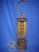 Antique Coal Miners Lamp ~ Circa 1880's~ WOLF Lamp Co. ~Germany ~ SPECIAL NOTE: The Actual Coal Miner's # Tag on Top of Lamp ~ B.C. HISTORICAL ARTIFACT Nanaimo, B.C.