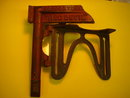 Antique Steel Tool  Hand Saw Mitre Guide mounts to work bench _ STAMPED_ S & H co. NY U.S.A _