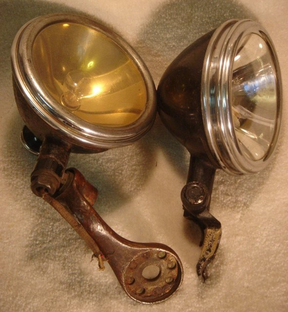 Collectible Vintage Automobile FOG LAMPS _All Original_ Circa 1930's _ from California, U.S.A.