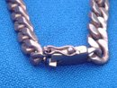 Estate  Jewelry__ Ornate Gold Style Stamped 18K  ID Bracelet  Note: Woven Braided Edge on each side of ID Bar...Nautical Theme __Mans or Ladies __