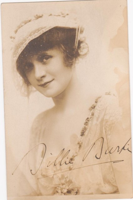 Vintage Postcard of famous USA Stage + Screen  Actress Billie Burke _signed