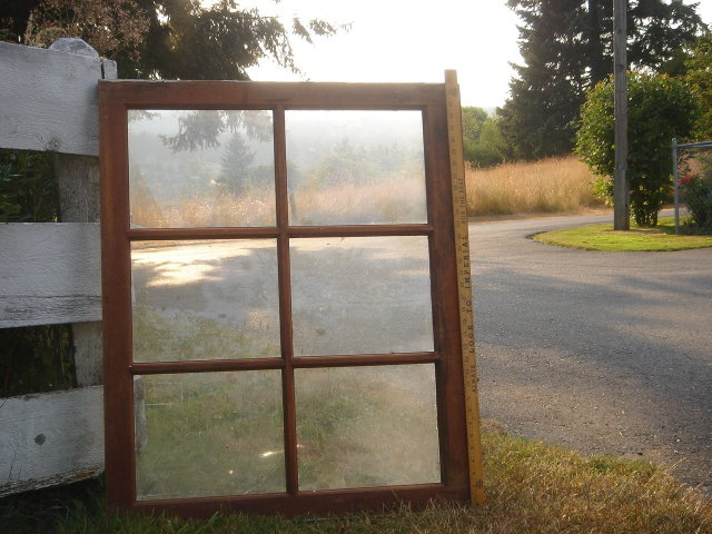 Old Country Canada _from old B.C. Historical Barn _made of B.C. Douglas Fir Wood_6 Pane Window