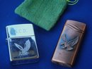 Lighters / Smoking items __ZIPPO lighter with EAGLE design and unnamed Lighter Copper Finish with EAGLE