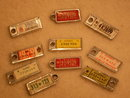 Automobiles / Cars __LOT of 10 Vintage WAR AMPS Miniature License   Plate  KEY Tags _ONE LOT  of TEN_ 1960' s-80's  PLUS ONE TAG Hawaii JOHN Aloha State with brass chain