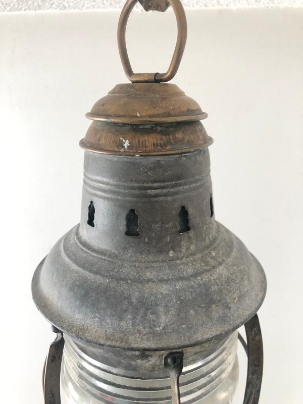 Antique Navigation Lantern Fresnel lamp Lens glass no damage USA maker