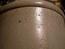 Pottery _ Primitive ANTIQUE_ Early Medalta Pottery Stoneware Crock _Old Canada Country Antique_ Size 10.5