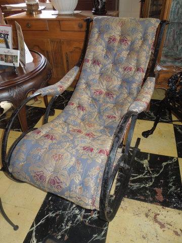 Magnificent C 1850 Wrought Iron Winfield Rocker Squirreltailoven Fun Painted Chair Ideas Images Squirreltailovenorg