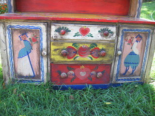 Peter Hunt Two Part Painted Hutch- 1948