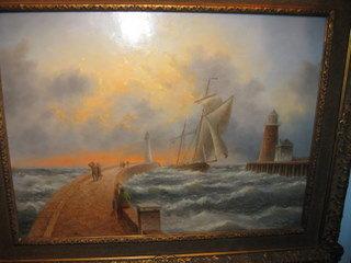 Dennis Lewan original oil on board