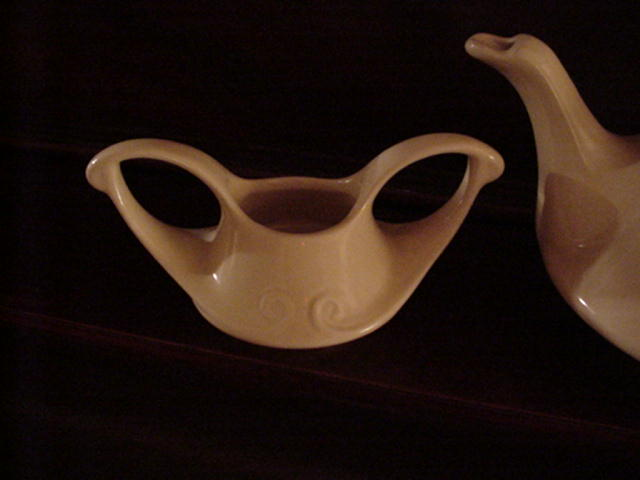 Pearl China of Ohio Teapot Creamer and Sugar