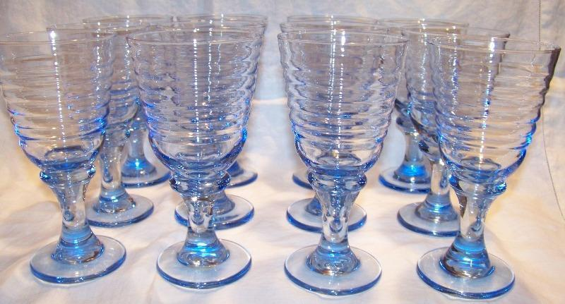 Libbey Sirrus Blue Goblets Set of 12