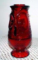 Owl Red Glass Fairy Light