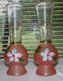 Hand Painted Vases  Pair