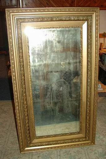 Large Mirror in Gilded Ornate Frame
