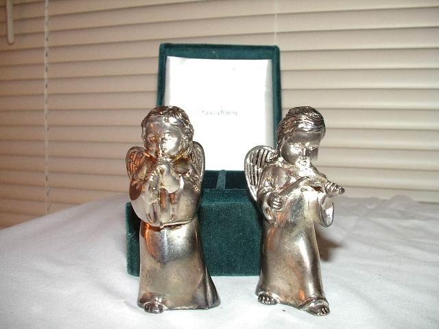 Godinger/Neiman Marcus Salt and Pepper Shaker Musical Angels