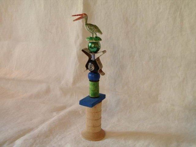 Outsider Art  Sculpture Whimsical 7.5