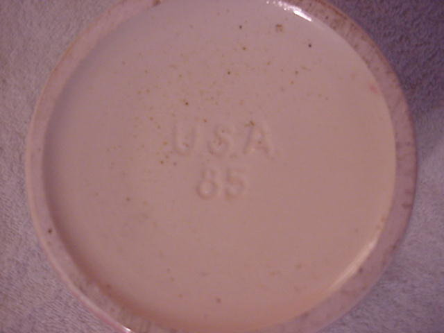 Vase Marked USA 85 Pink Pelican
