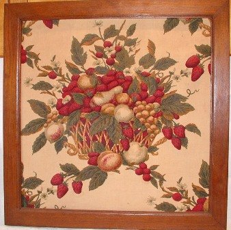 Raised Art Strawberries, Grapes, Peaches