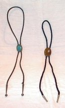 Bolo Ties Turqoise and Brown Stones