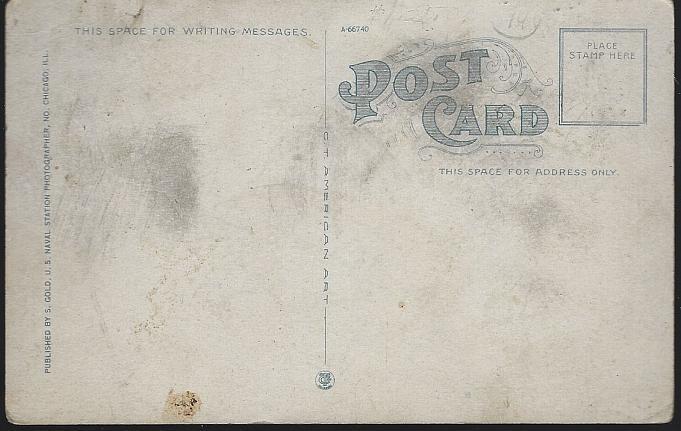 Unused Postcard of Signal Drill, U.S. Naval Training, Great Lakes, Illinois