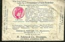 Victorian Sample Package of Freeman's Face Powder