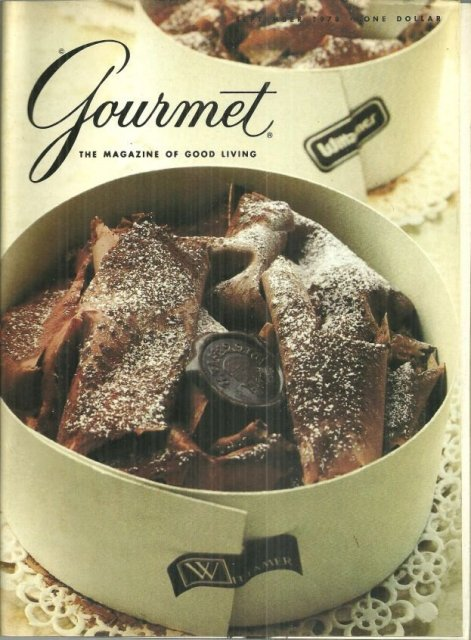 Gourmet Magazine September 1978 Foret Noire from Wittamer on Cover