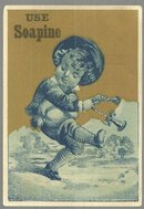 Victorian Trade Card for Soapine with Dancing Boy